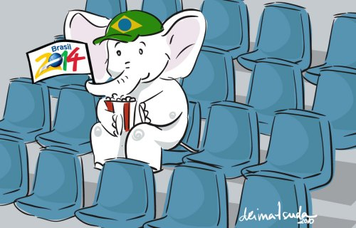 2014, um elefante branco - Arte: Dri Matsuda